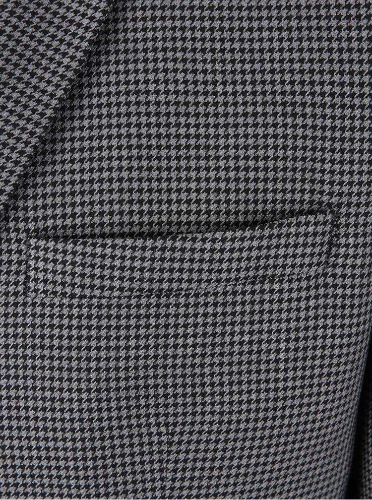 Čierno-sivý slim fit blejzer s kohúťou stopou Jack & Jones Roy