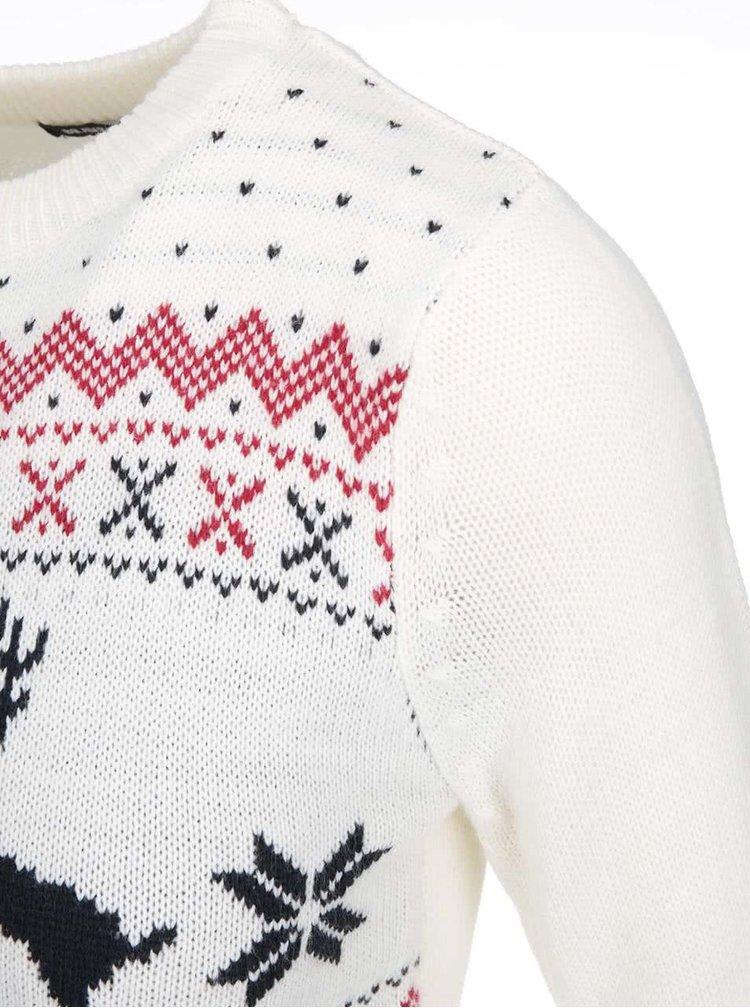 Béžový sveter so sobmi Brave Soul