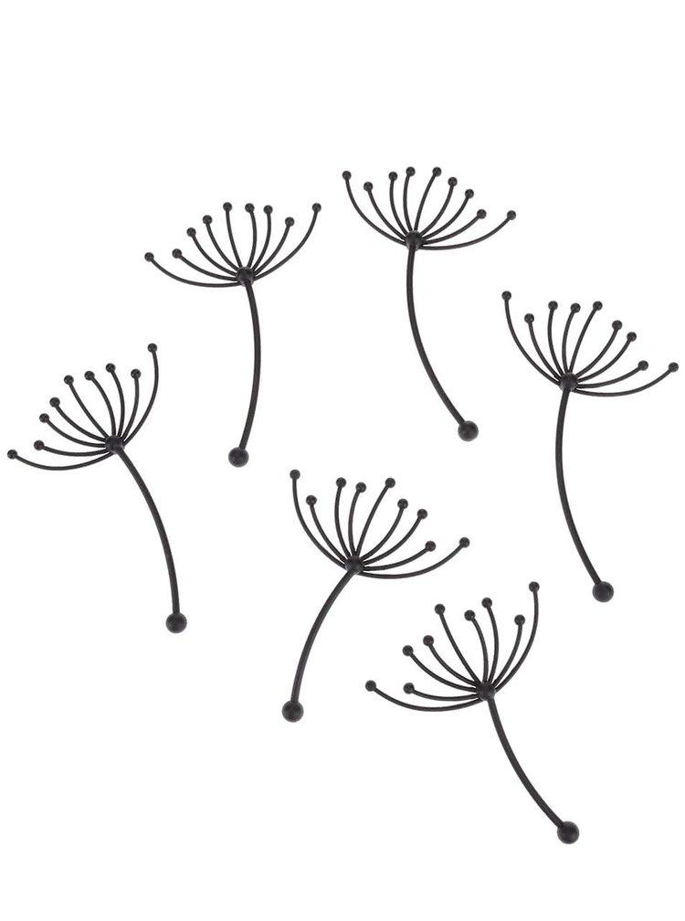 Čierna deväťdielna nástenná dekorácia Umbra Pluff