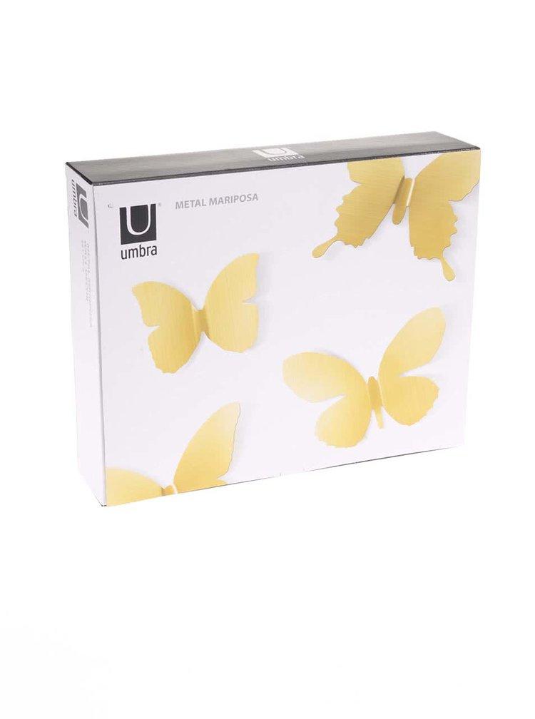Set 9 decoratiuni aurii UMBRA Pluff pentru perete