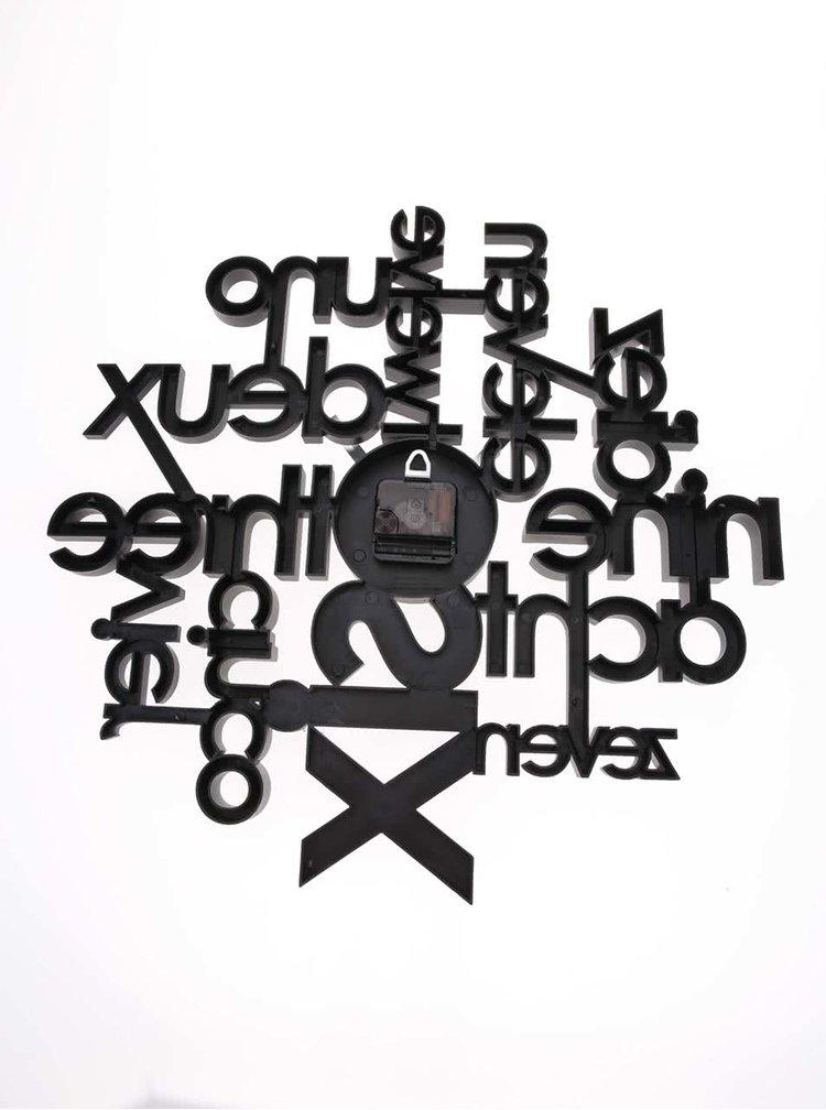 Černé nástěnné hodiny Umbra Lingua