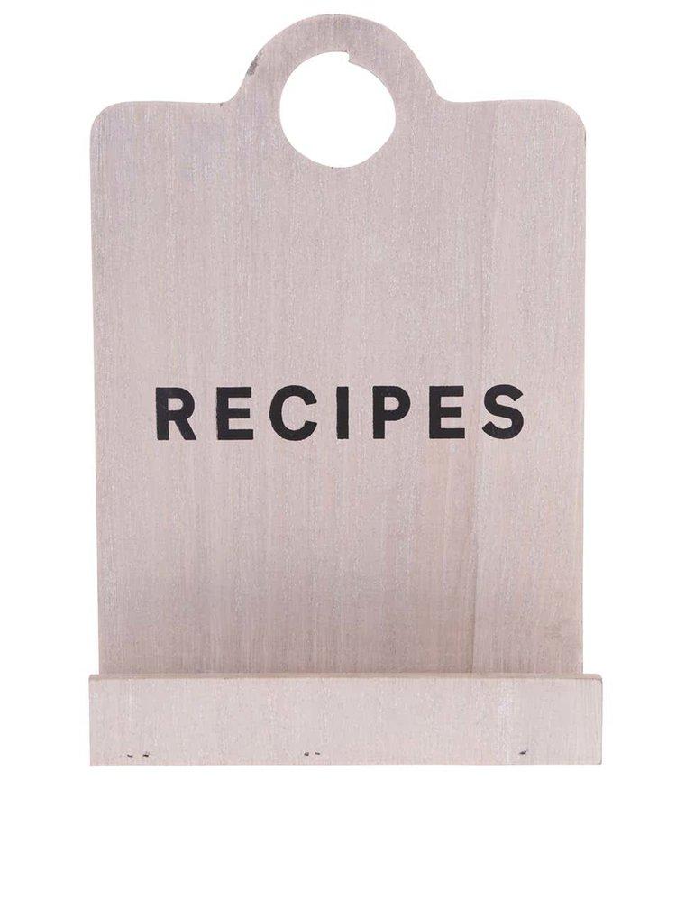 Dřevěný stojan na recepty ve tvaru prkénka CGB