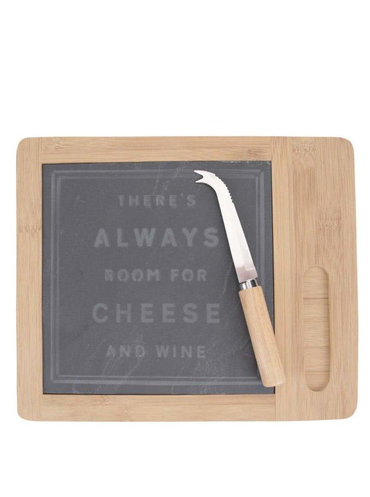 Hnědé prkénko a nůž na sýr CGB