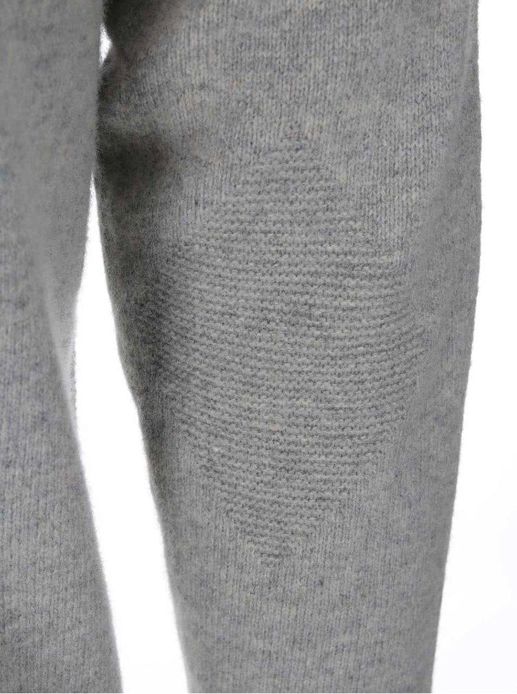 Pulover barbatesc, de la Ben Sherman, din lana, cu guler cu fermoar - gri