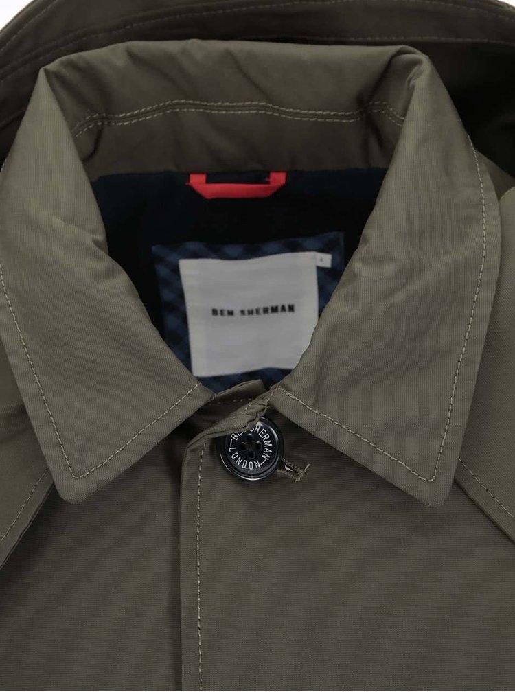 Khaki parka s kapucí Ben Sherman