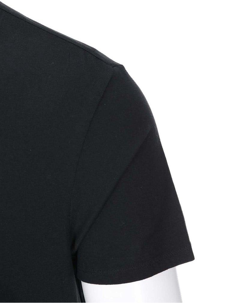 Černé triko s potiskem kytary Ben Sherman