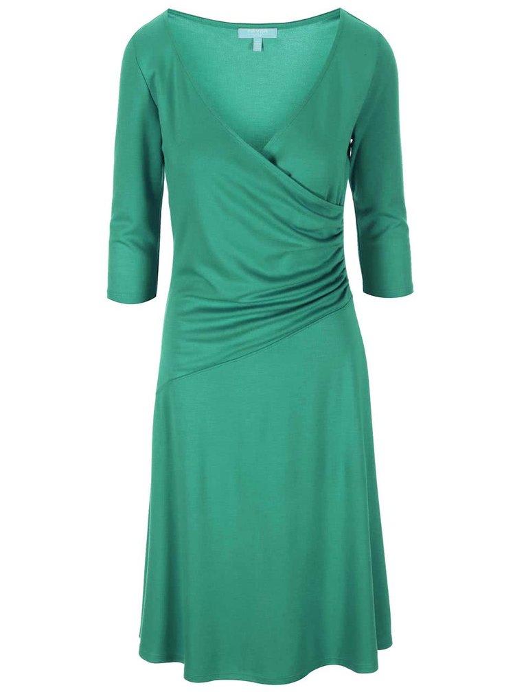 Zelené šaty s jemným řasením Fever London Bussell