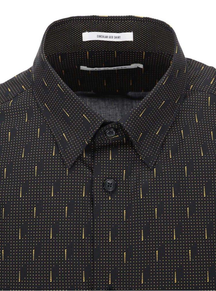 Černá košile se žlutými puntíky Ben Sherman