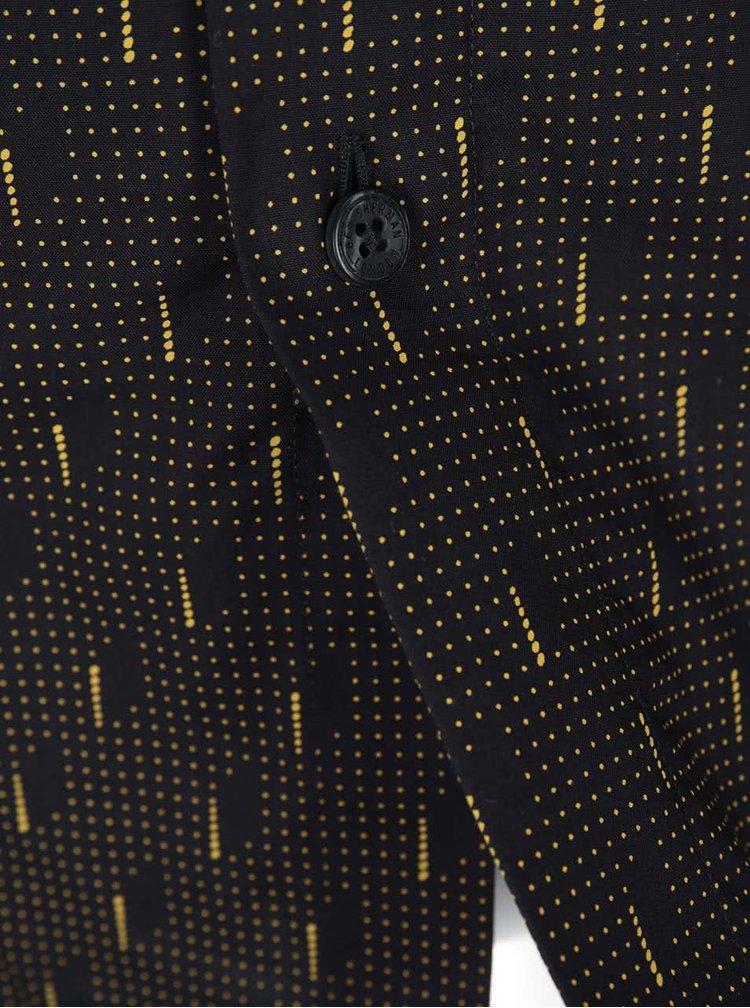 Camasa neagra cu buline galbene Ben Sherman