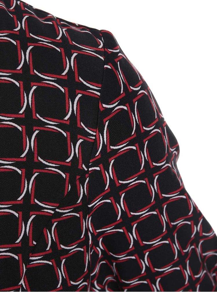 Čierne vzorované šaty Fever London Marseille