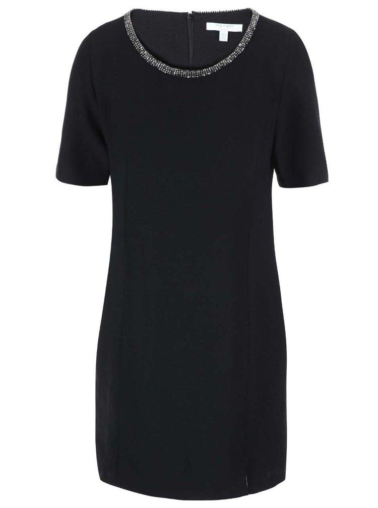 Fever London Imogen, rochie neagra cu decolteu decorat