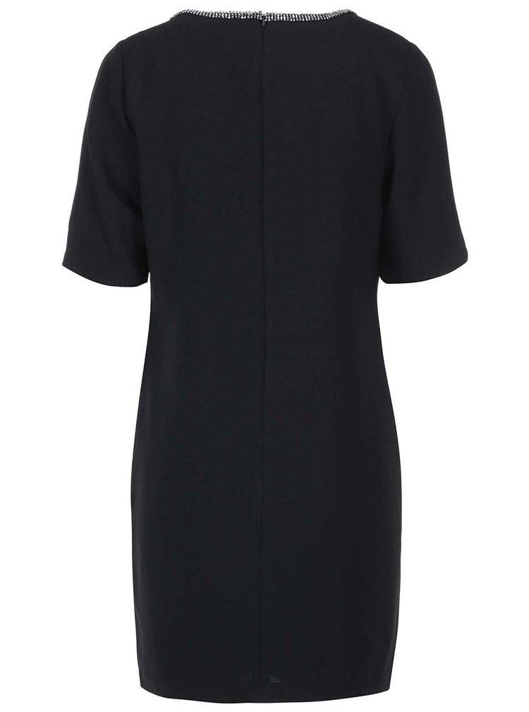 Fever London Imogen, rochie neagră cu decolteu decorat