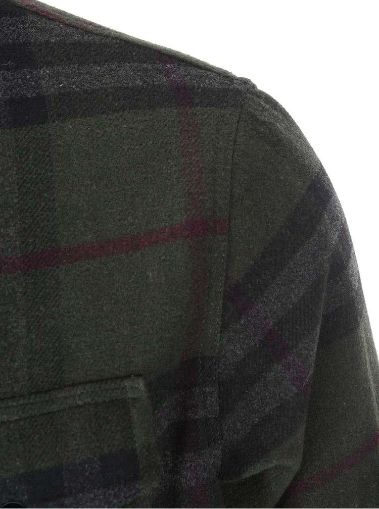 Tmavě zelená kostkovaná bunda ONLY & SONS Gara