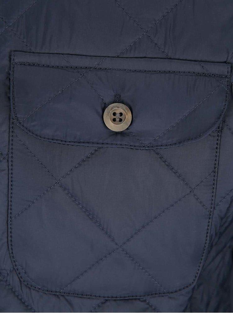Tmavě modrá prošívaná bunda Bertoni Alta