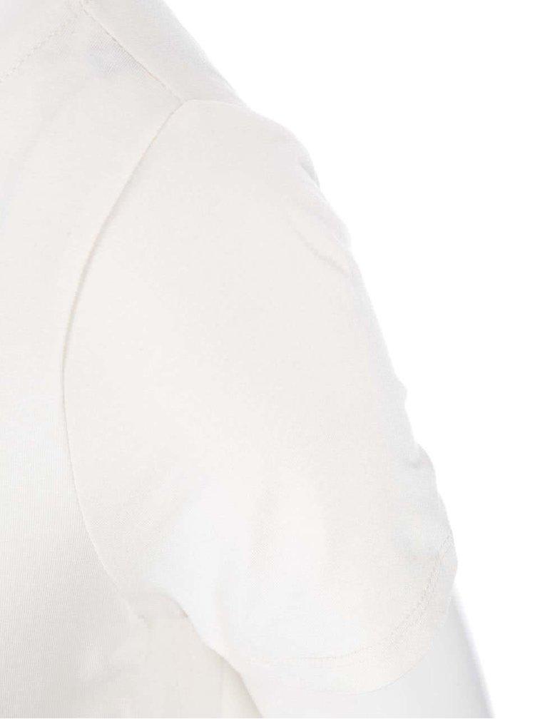 Krémové tričko so vzormi Desigual Adelma Rep