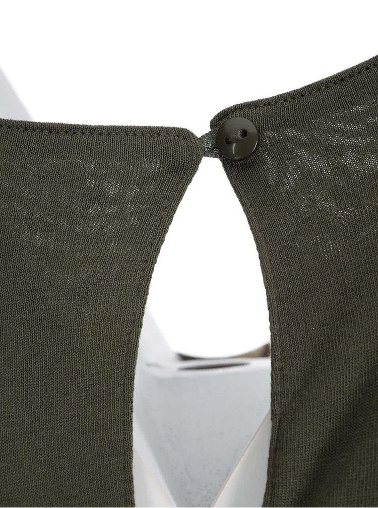 Bluză kaki Desigual Ely cu print