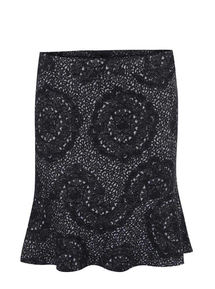 Šedo-černá vzorovaná sukně Desigual Jesi Rep