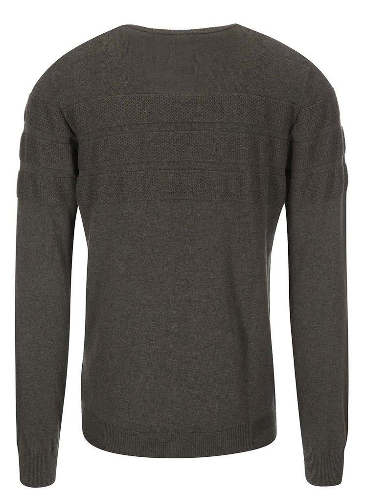Bluză Laust, de la Bertoni, cu răscroială rotundă - kaki