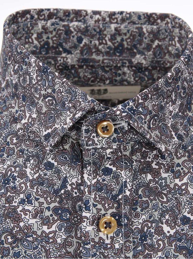 Modrá vzorovaná košile Bertoni Anton