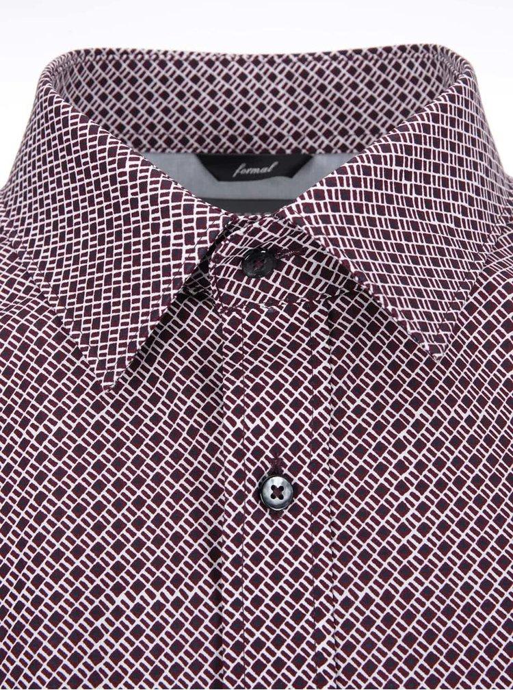 Červená kockovaná košeľa Bertoni Oskar