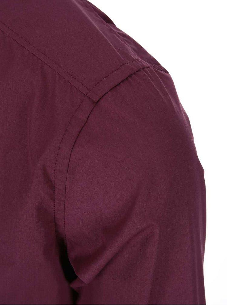 Vínová klasická košile Bertoni Slim Fit