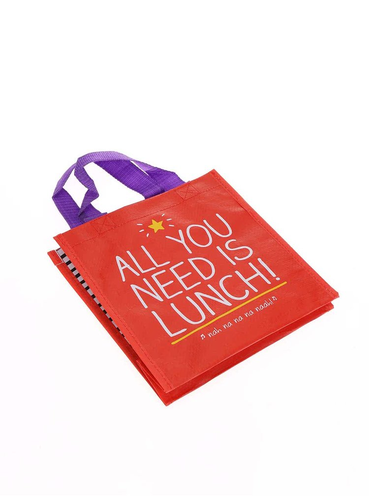 Červená taška na obed Happy Jackson All You Need Is Lunch