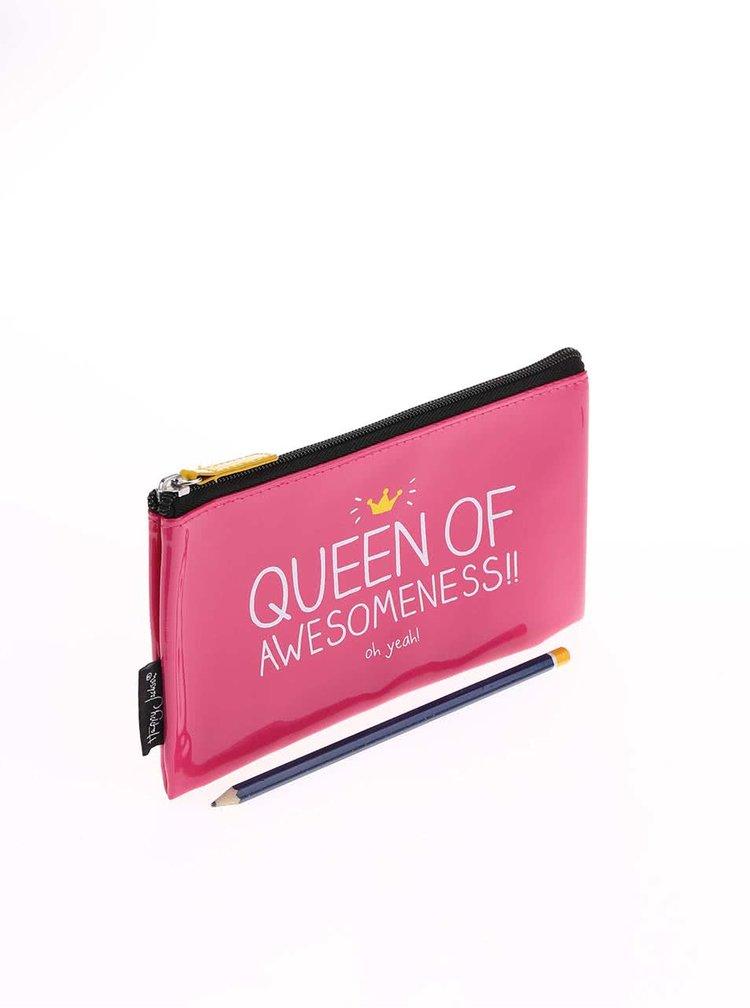 Růžová kosmetická taštička Happy Jackson Queen of Awesome