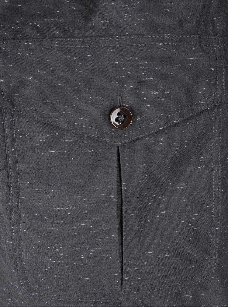 Sivá pánska bunda s jemným žíhaním Vans Talavera