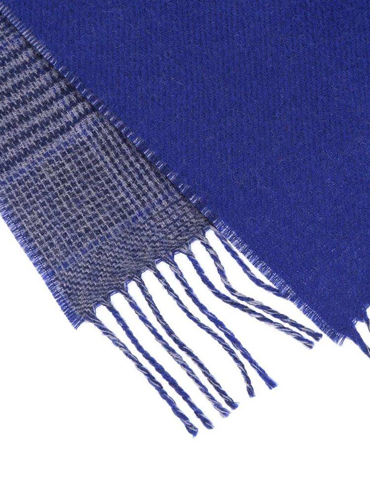 Královsky modrá dámská vlněná šála se vzorem glenček Fraas