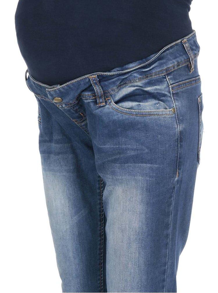 Tmavě modré těhotenské slim džíny Mama.licious Frey