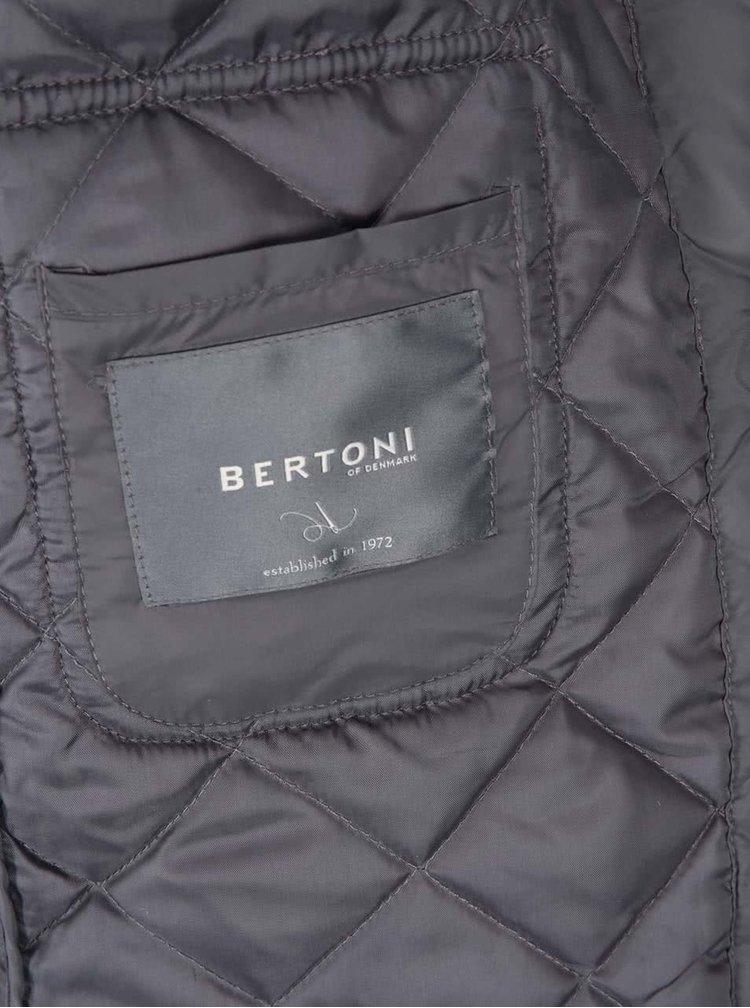 Sivá prešívaná bunda Bertoni Alta