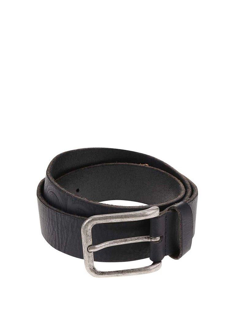 Černý kožený pásek Jack & Jones Ever