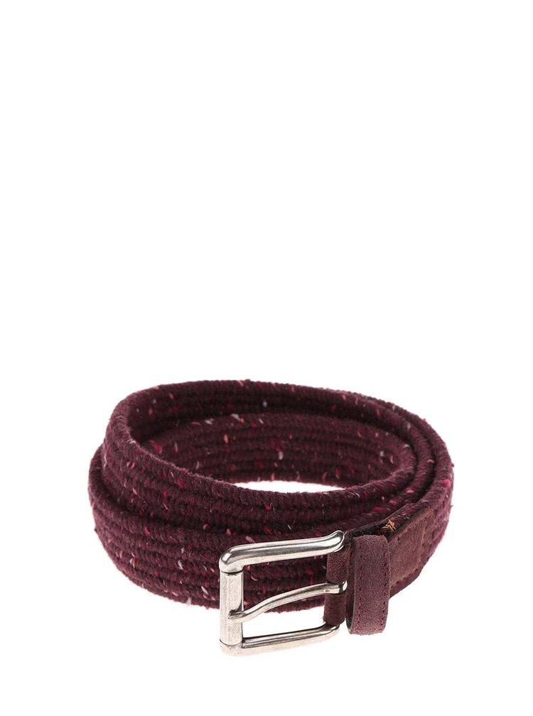 Vínový pletený pásek Portia