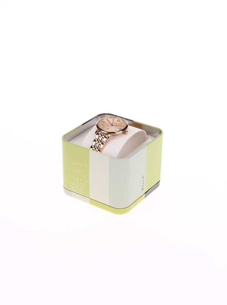 Dámské hodinky v růžovo-zlaté barvě s nerezovým páskem Fossil Jacqueline