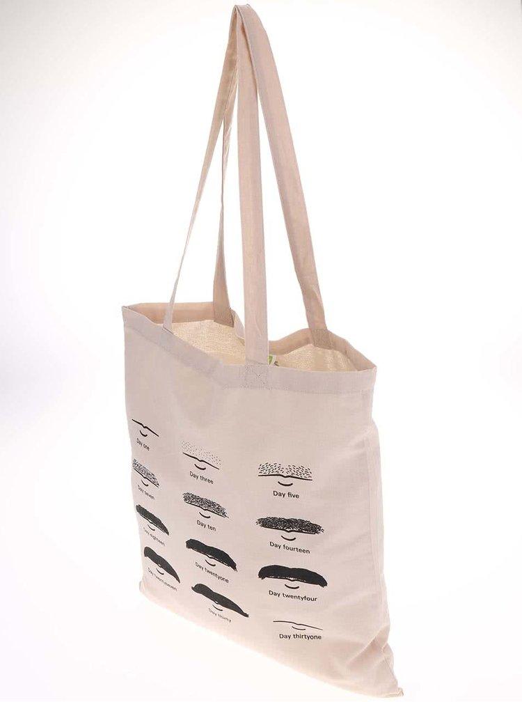 Krémová taška s potiskem ZOOT Originál Evoluce kníru