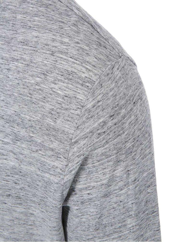 Šedé žíhané pánské triko s dlouhým rukávem ZOOT Originál Challenge Accepted