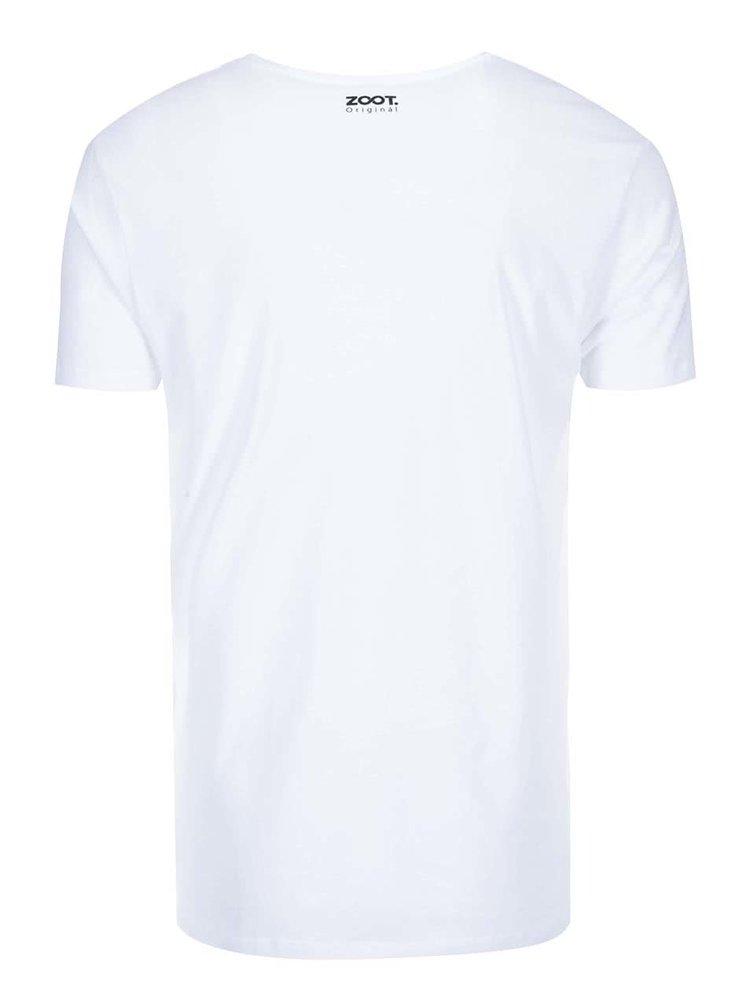 Biele unisex tričko ZOOT Originál Prst