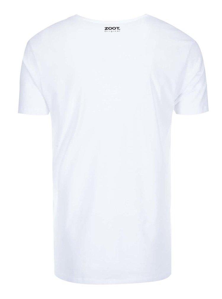 Bílé pánské triko ZOOT Originál Mr. Font