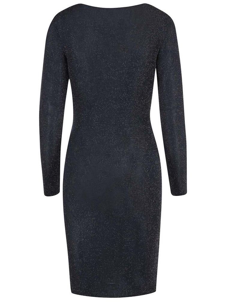 Tmavomodré šaty s jemným riasením ONLY Glitta