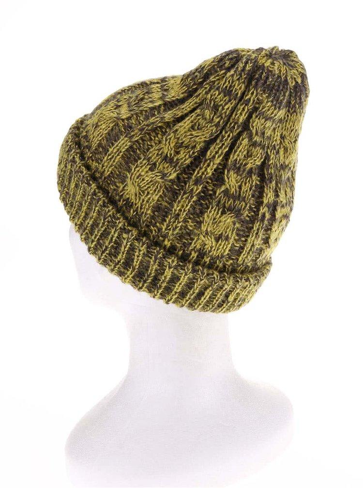 Zelená dámska žíhaná čiapka Burton Bone Cobra