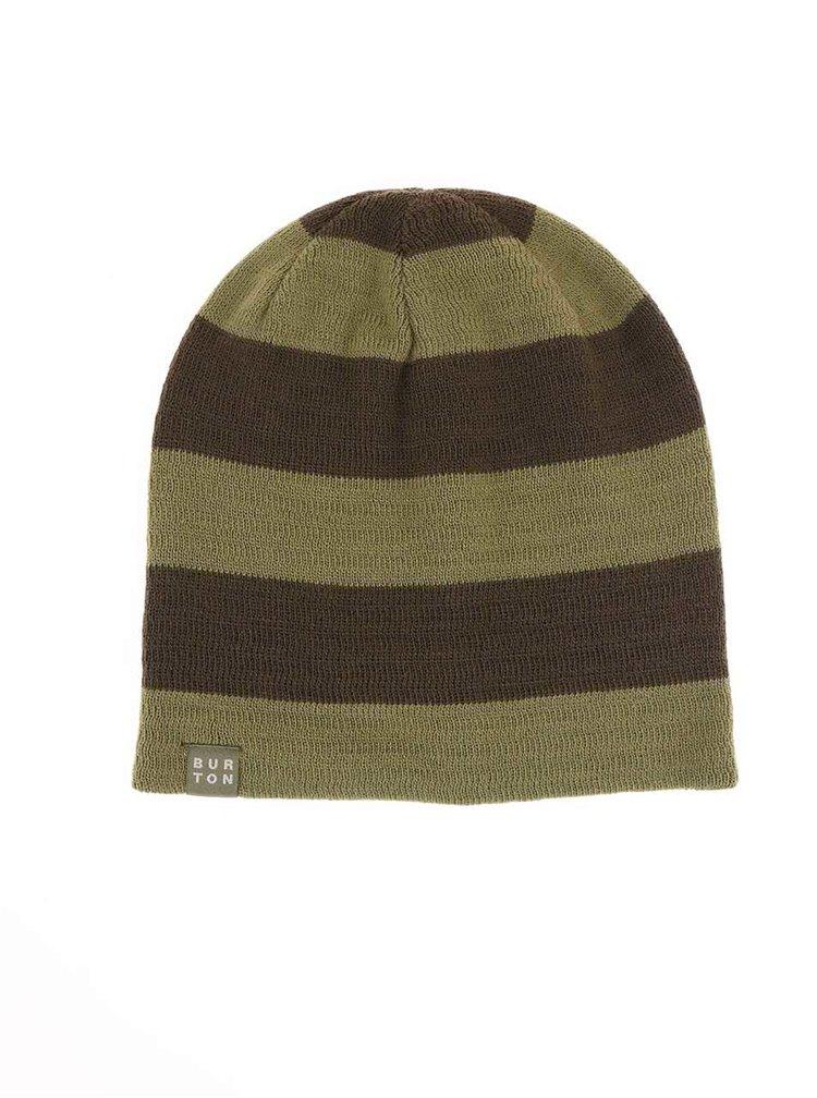 Zelená pánska pruhovaná čiapka Burton Silverman