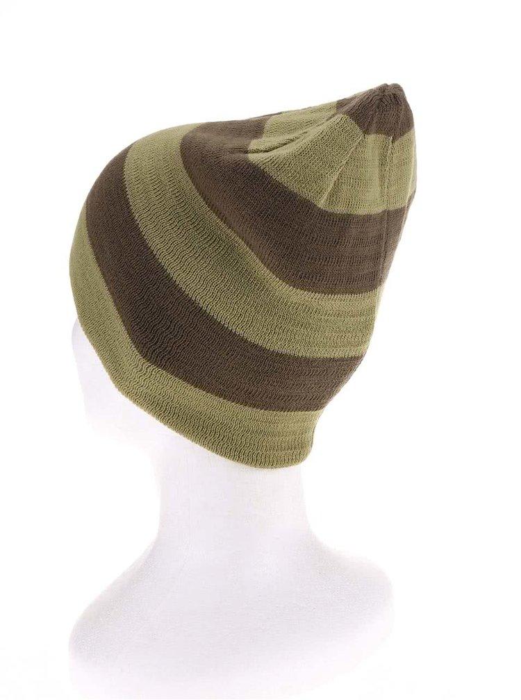 Zelená pánská pruhovaná čepice Burton Silverman