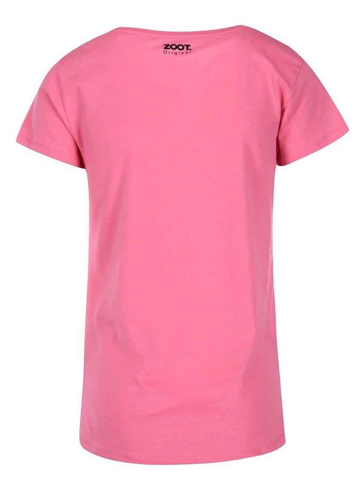 Růžové dámské tričko ZOOT Originál I Kissed