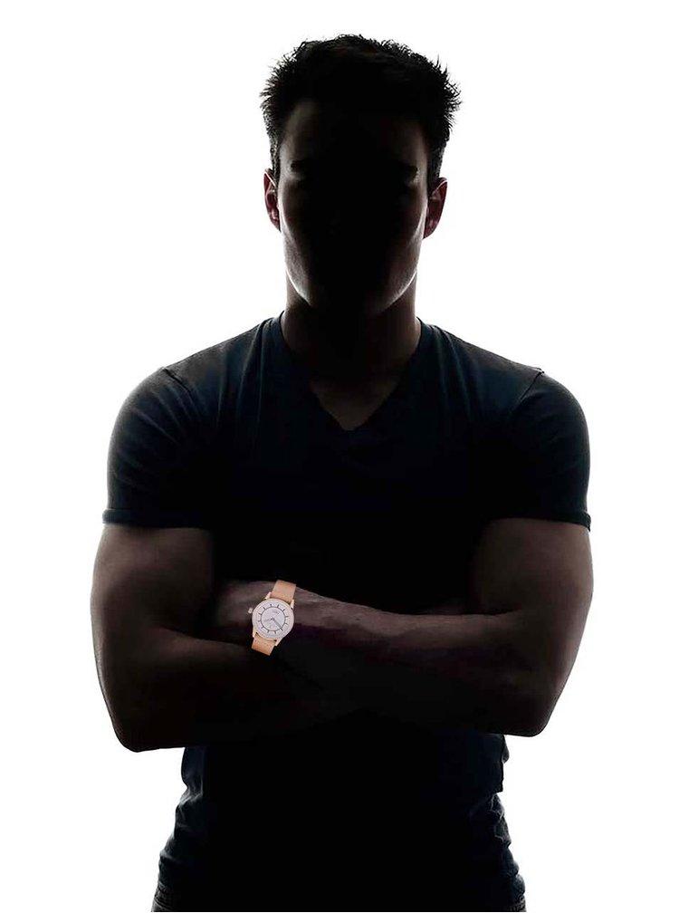 Ceas unisex Niben, de la Triwa, cu curea din piele, bej