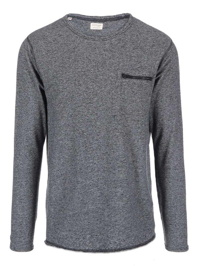 Tmavě šedá mikina s kapsou na zip Selected Homme Wear