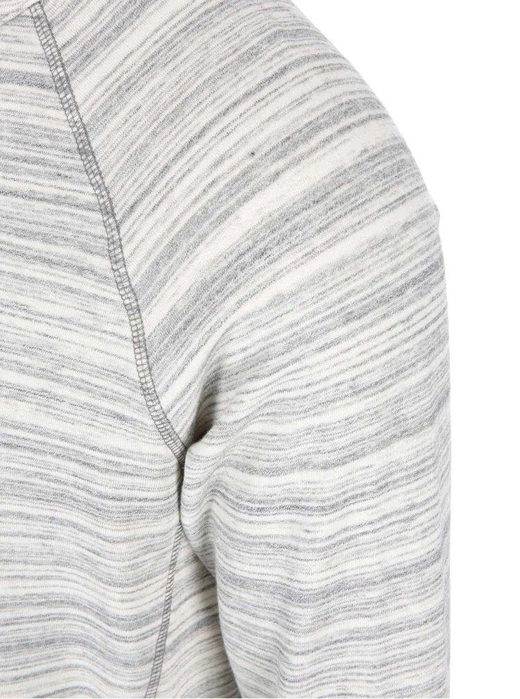 Krémovo-šedá žíhaná mikina Selected Homme Dash