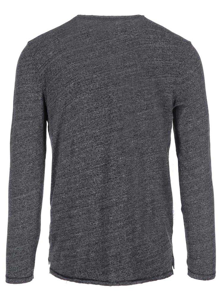 Černé triko s dlouhým rukávem Selected Andro