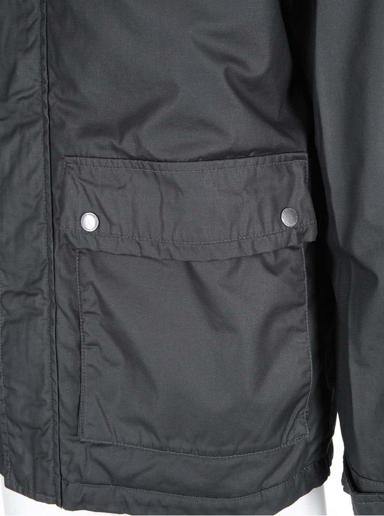 Černá lesklá bunda s kapucí Selected Homme Gian
