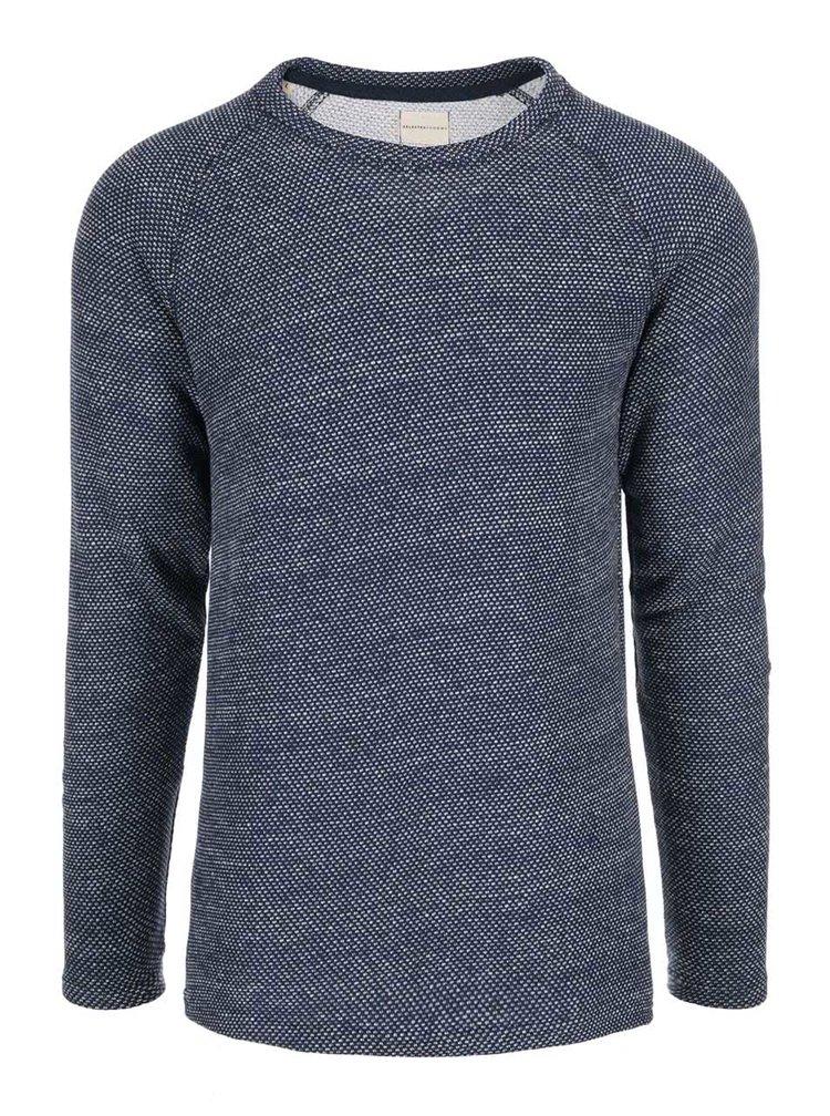 Bluza sport cu buline crem Selected Homme Crafford - albastra