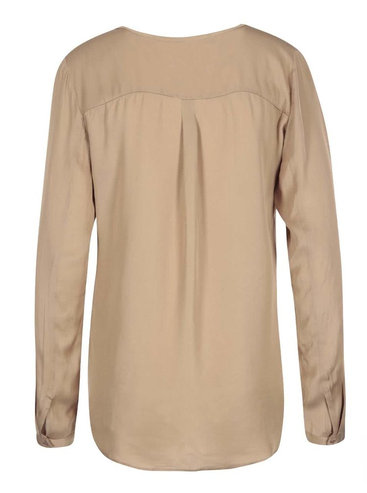 Hnedá voľnejšia košeľa VILA Treat